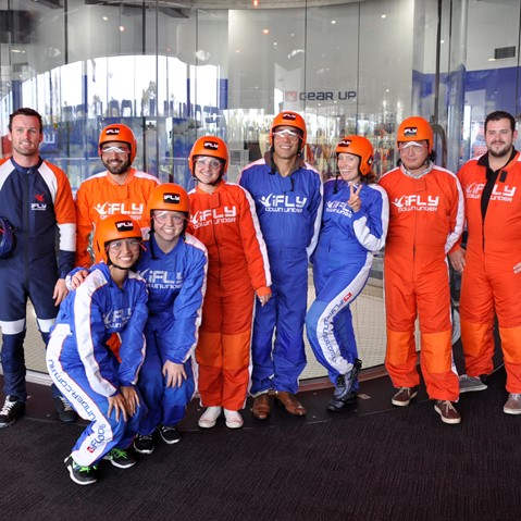Corporate group at iFLY