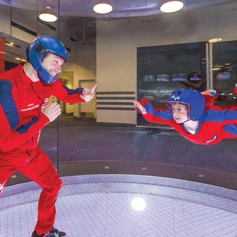 Indoor skydiving at iFLY UK