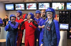 iFLY indoor skydiving group
