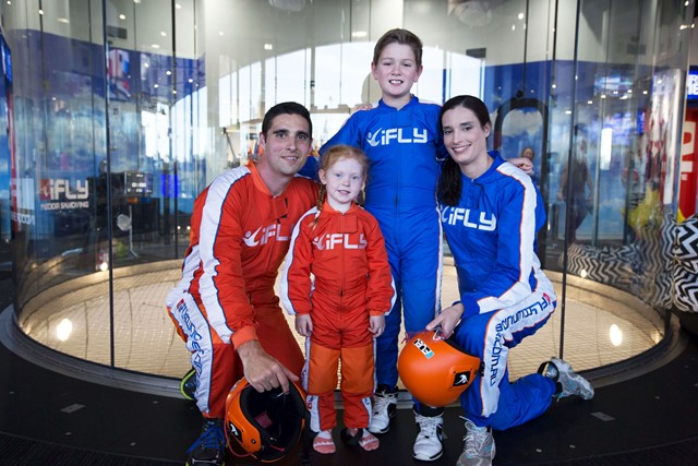 A family group at iFLY