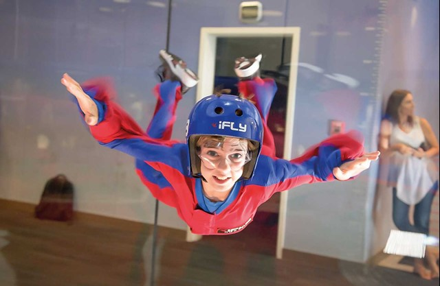 Child flying at iFLY